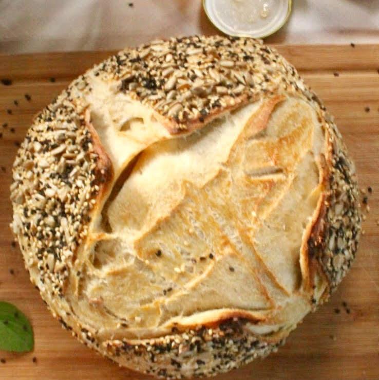 pão de fermentação natural pronto